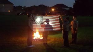 Flag Retirement Ceremony with Scouts